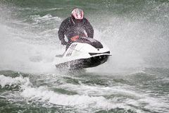 Jet boat racing Stock Photos