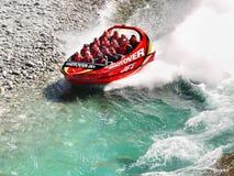 Jet Boat Ride, Queenstown, Neuseeland Lizenzfreies Stockbild
