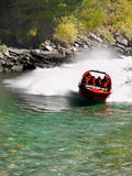 Jet Boat Ride, Queenstown, New zealand Stock Photo