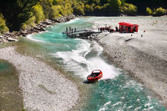 Jet Boat Ride, Shotover River, Queenstown Royalty Free Stock Photos
