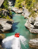 Jet Boat Ride, Shotover River, Queenstown Royalty Free Stock Photography