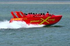 Jet Boat Rides in Gouden Kust Queensland Australië Stock Foto's