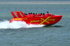 Jet Boat Rides i Gold Coast Queensland Australien Arkivfoton