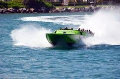 Jet Boat Sight Seeing Tour imágenes de archivo libres de regalías