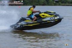 Jet Boat. Jet ski across the lake Stock Photo