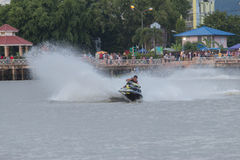 Jet Boat. Jet ski across the lake Stock Images