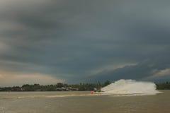 Jet Boat. Jet ski across the lake Stock Photography