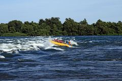 Jet boating adventure Stock Image