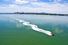 Jet Boating - Auckland Harbour Royalty Free Stock Photos