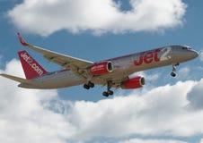 Jet 2 Boeing 757 Lizenzfreie Stockfotografie