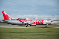 Jet2 Boeing 737. Landing at Prague Airport Royalty Free Stock Photo
