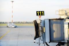 Jet bridge Royalty Free Stock Image