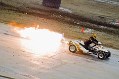Jet car. Monster truck event at the Olympic Stadium of Montreal April 22, 2006 Stock Images