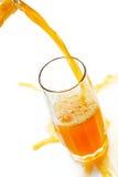 Jet of cold orange juice Stock Image