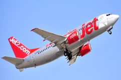 Jet2com airline company boeing aircraft flying sky Stock Image