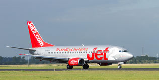 Jet2.com. Jet2 landing on Schiphol Airport Royalty Free Stock Photo