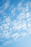 Jet contrail Royalty Free Stock Photography