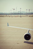 Jet d'air d'avion d'air dans l'aéroport Photo stock