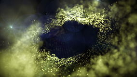 Jet d'appareil-photo de particules les particules banque de vidéos