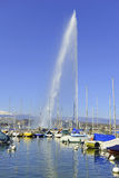 Jet d'Eau Fountain, Geneva, Switzerland Stock Images