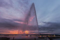 Jet d`Eau in Geneva Royalty Free Stock Photo