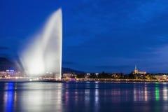 Jet d`Eau in Geneva. Geneva, Switzerland Royalty Free Stock Photos
