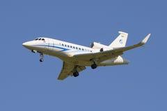 Jet Dassault Falcon 900 EX (RA-09600) da empresa Gazpromavia em voo Imagens de Stock
