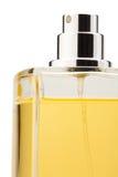Jet de bouteille de parfum. Groupe Photographie stock