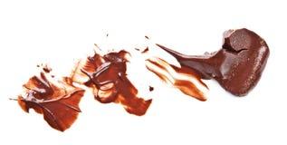Jet de chocolat Photographie stock