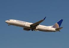 Jet de Continental Airlines Boeing 737-800 imagenes de archivo