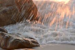 Jet de coucher du soleil Photos libres de droits