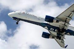 Jet de delta Images stock