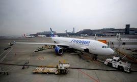 Jet de Finnair Imagenes de archivo