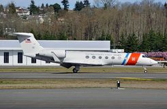 Jet de Gulfstream Business del guardacostas de los E.E.U.U. foto de archivo