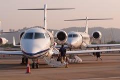 Jet de Gulfstream G280 Images libres de droits