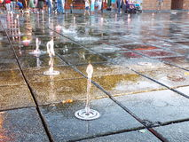 Jet de la fuente de agua Fotos de archivo libres de regalías