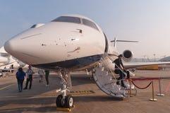 Jet de Nanshan Boeing BBJ Photographie stock libre de droits