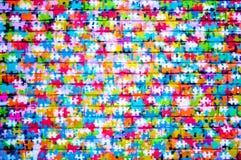 Jet de puzzle de pinceau photo stock