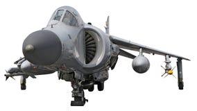Jet del salto del Sea-Harrier - aislado en blanco imagen de archivo libre de regalías
