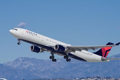 Jet Delta Airliness Airbus stockbilder