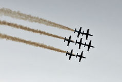 Jet display team Stock Photography