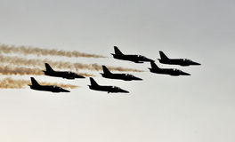 Jet display team Royalty Free Stock Image