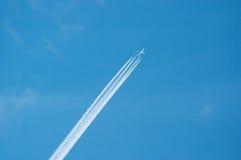 Jet en cielo Fotografía de archivo libre de regalías