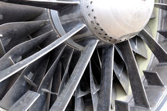 Jet engine. Close-up of Russian aircraft stock image