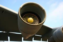 Jet engine. Giant jet engine of Galaxy C-5 on NATO days royalty free stock photos