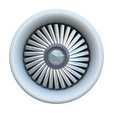 Jet engine. Isolated on white background Stock Image