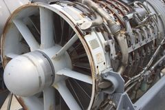 Jet Engine 2. A jet engine thats been removed from a jet fighter stock image