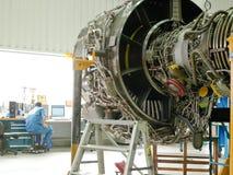 Jet engine. Repair in factory workshop in Zhuhai MTU China Stock Photography
