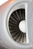 Jet engine. Close up of a Jet engine turbine Stock Photo