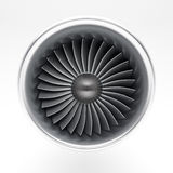 Jet engine. Front on white background Royalty Free Stock Image